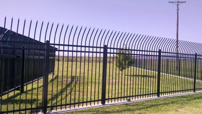 Commercial-steel-fence