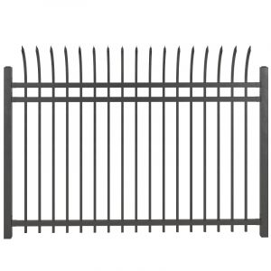 Vietnam curved top steel fence