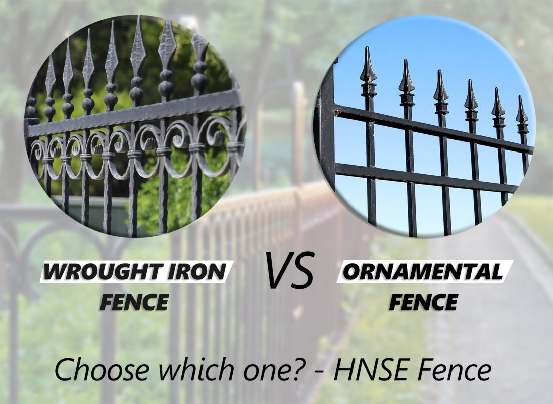 Ornamental fence and wrought iron fence
