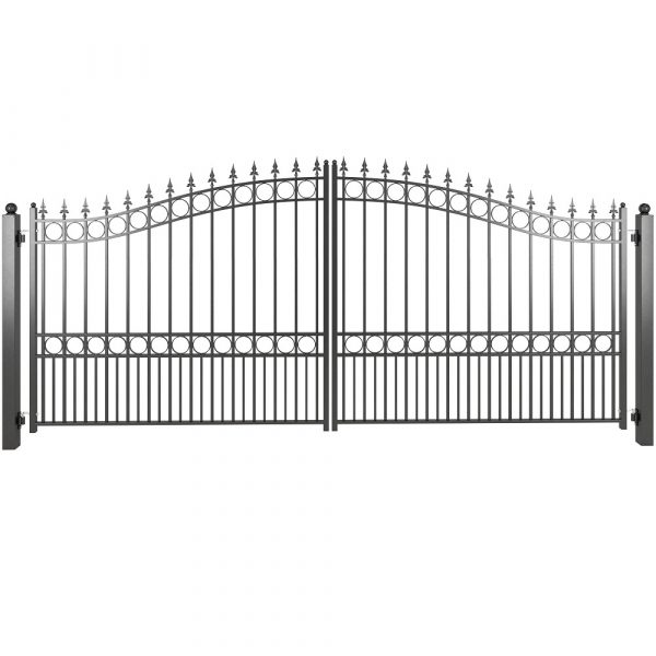 Arched top driveway gate