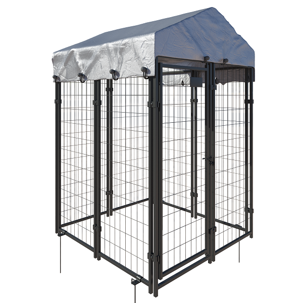 8 panel kennel style